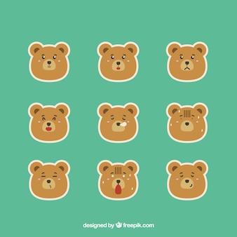 Fantastic urso emoji adesivos