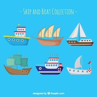 Fantástica coleção de barcos