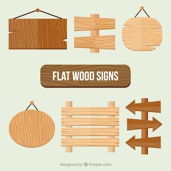 Fantástica coleção de sinais de madeira