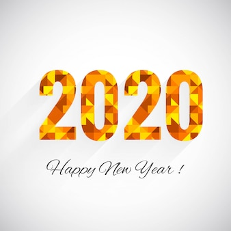 Fantástico 2020 ano novo texto celebração modelo de cartão de saudação