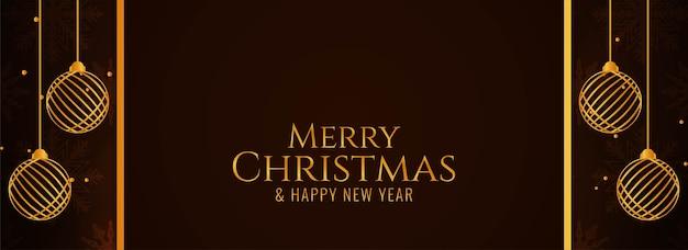 Fantástico banner escuro moderno de feliz natal