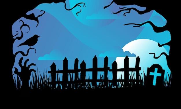 Fantástico fundo de halloween com design plano