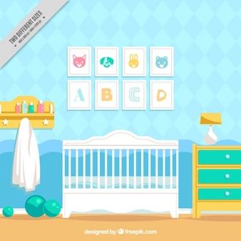 Fantástico quarto bebê com molduras decorativas