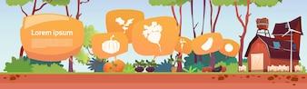 Farm Building Infographics de agricultura ecológica