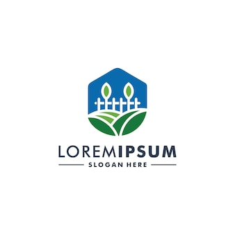 Farm logo design natureza ícone logotipo vetor
