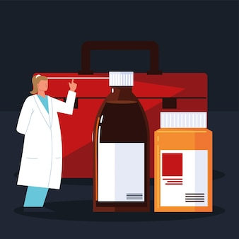 Farmacêutica medicina feminina