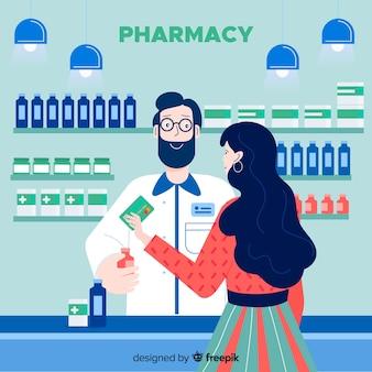Farmacêutico com cliente