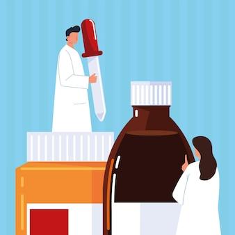 Farmacêutico homem mulher
