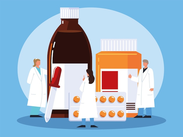 Farmacêutico medicamento profissional