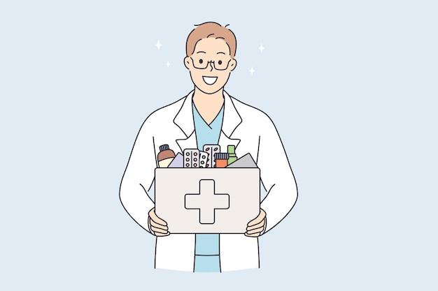 Farmácia e conceito de venda de medicamentos