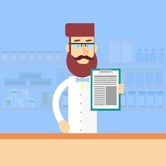 Farmácia farmacêutico trabalhador farmácia masculina