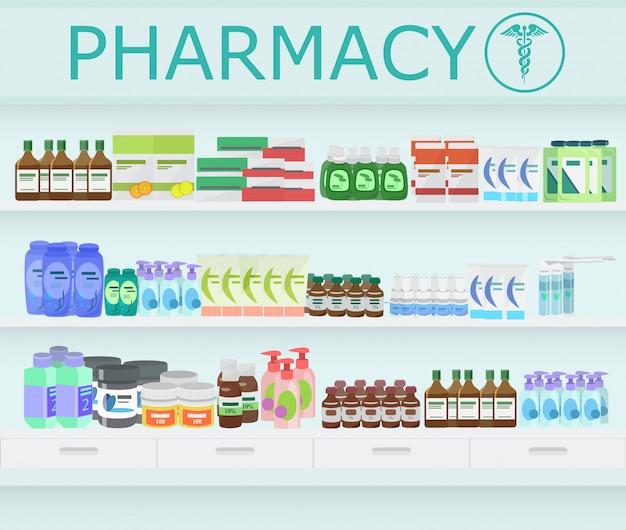 Farmácia farmácia interior.