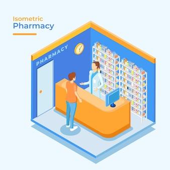Farmácia isométrica