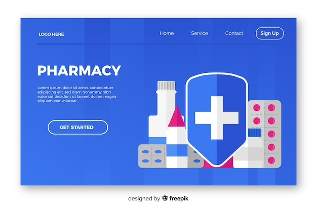 Farmácia simples e simples página de destino