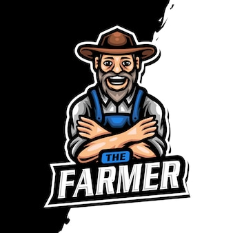 Farmer mascot logo esport gaming