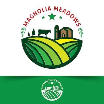 Farmers market logos templates vector objects