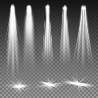 Faróis de luzes de feixe branco