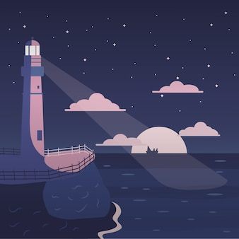 Farol à beira-mar