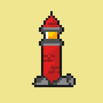 Farol com estilo pixel art