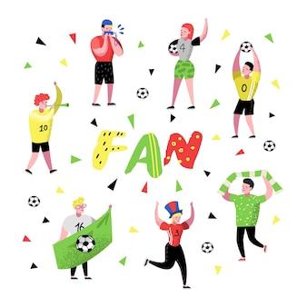 Fãs de futebol comemorando a vitória