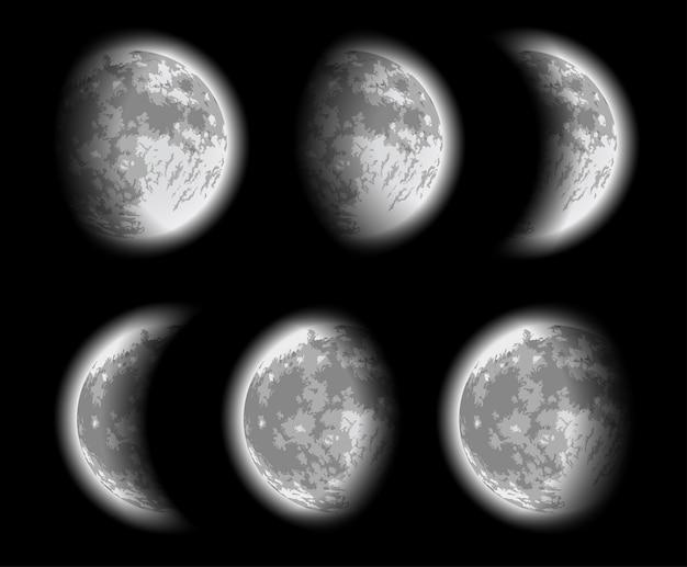 Fases da lua. ilustração vetorial