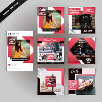 Fashion social media post para marketing digital