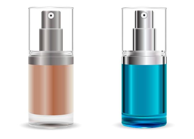 Fasial base dispenser pump spray bottles set.