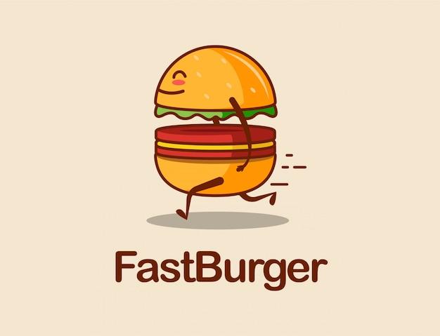 Fast burger cartoon