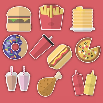 Fast food adesivos