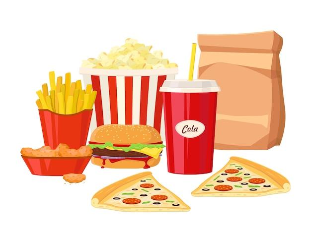 Fast food colorido