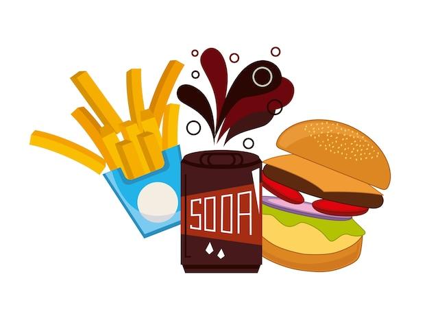 Fast food e design de refrigerante