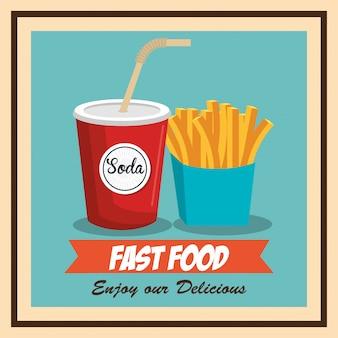 Fast food hambúrguer design isolado