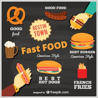 Fast food no quadro-negro
