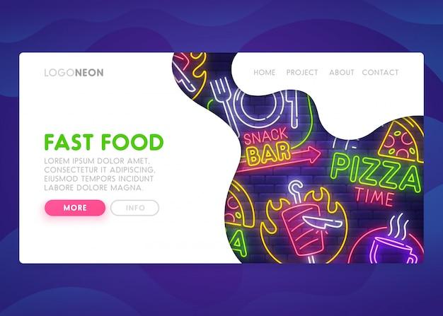 Fast food - página de destino