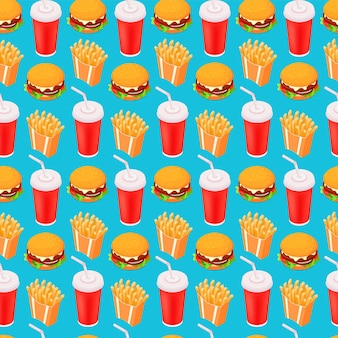 Fast-food seamless isometric