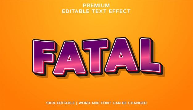 Fatal - estilo de efeito de texto editável