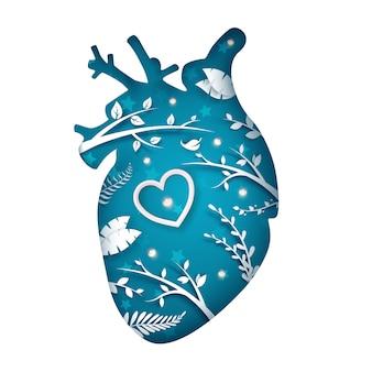 Fatia de coração de papel