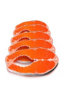 Fatia de peixe vermelho