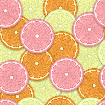 Fatias de laranja sem costura de fundo.