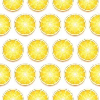 Fatias de limão sem emenda