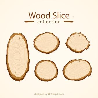 Fatias de madeira