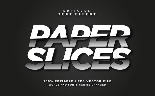 Fatias de papel, vetor livre de efeito de texto