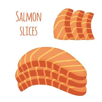 Fatias de salmão