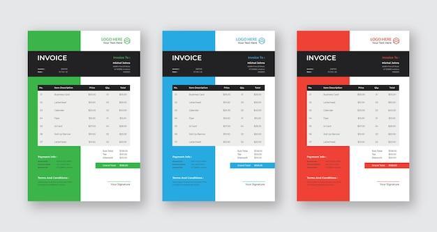 Fatura de design moderno de negócios eps