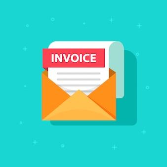 Fatura na mensagem de email recebida com documento de fatura