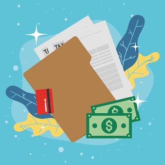 Faturas de documentos fiscais e cartão de crédito