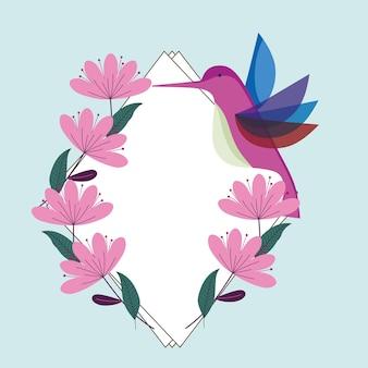 Fauna de flores de beija-flor