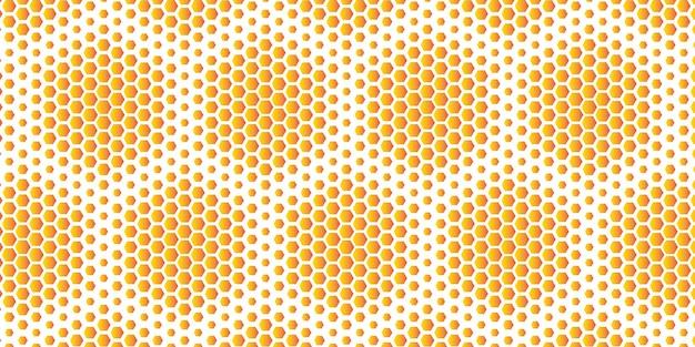Favo de mel hexagonal de tamanho aleatório