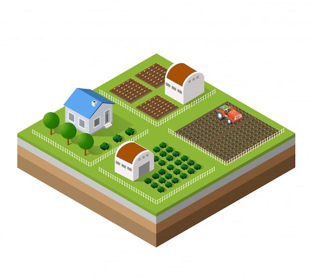 Fazenda conjunto de casas