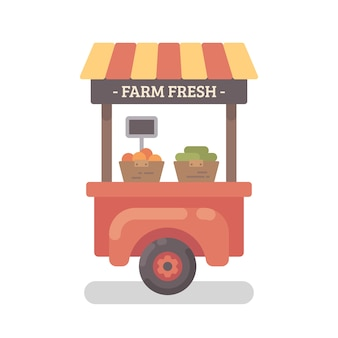 Fazenda ficar plana ilustração